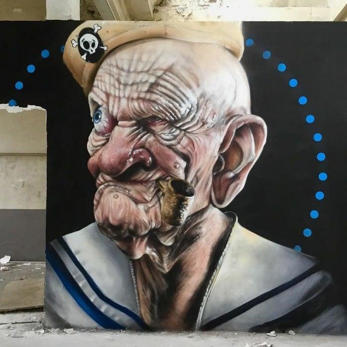 Artista de rua francês pinta grafite de criatura 3D (43 fotos) 22