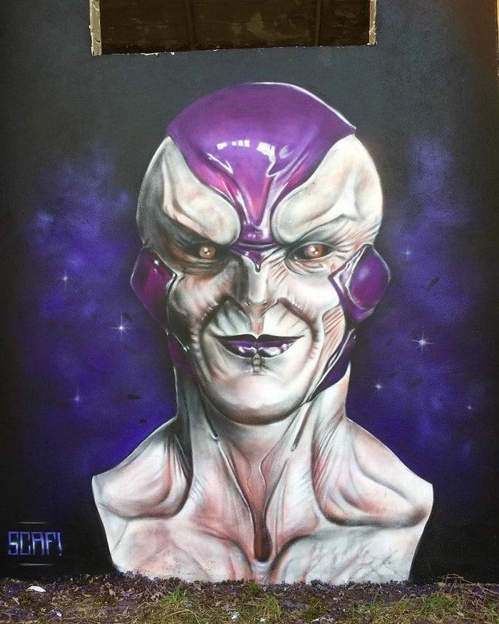 Artista de rua francês pinta grafite de criatura 3D (43 fotos) 23