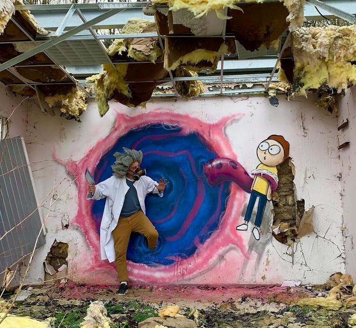 Artista de rua francês pinta grafite de criatura 3D (43 fotos) 24