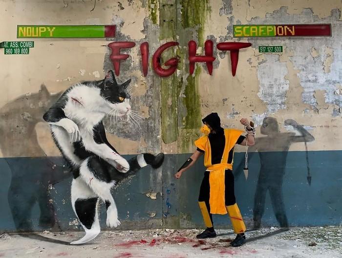 Artista de rua francês pinta grafite de criatura 3D (43 fotos) 26