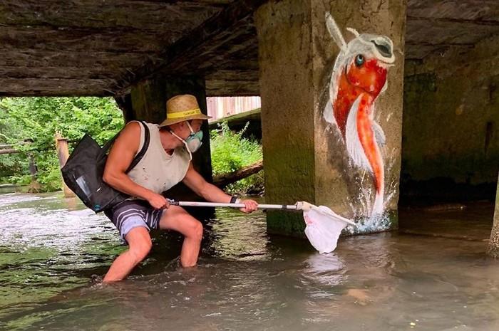 Artista de rua francês pinta grafite de criatura 3D (43 fotos) 32