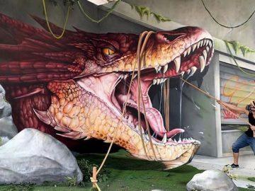 Artista de rua francês pinta grafite de criatura 3D (43 fotos) 3