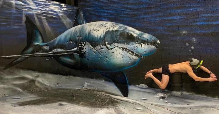 Artista de rua francês pinta grafite de criatura 3D (43 fotos) 39