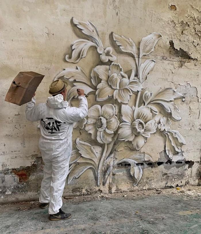 Artista de rua francês pinta grafite de criatura 3D (43 fotos) 41