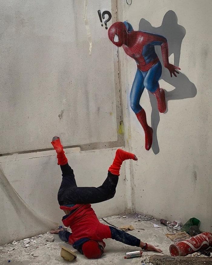 Artista de rua francês pinta grafite de criatura 3D (43 fotos) 42