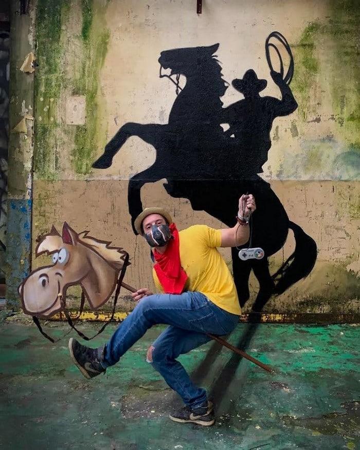 Artista de rua francês pinta grafite de criatura 3D (43 fotos) 44