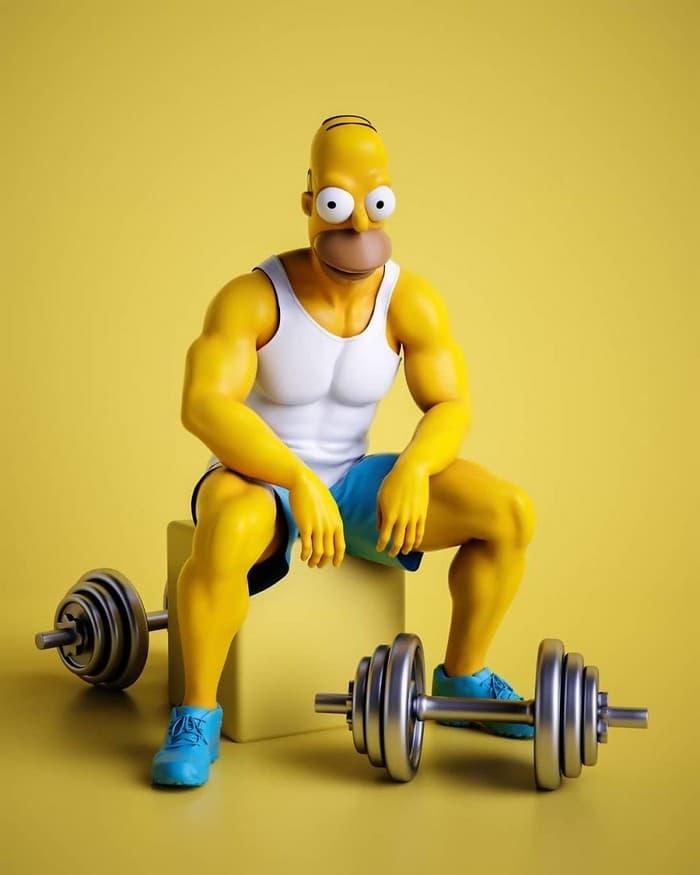 Artista imagina personagens de desenhos animados famosos com corpos humanos e o resultado é bizarro (14 fotos) 9