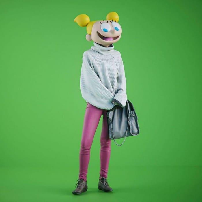 Artista imagina personagens de desenhos animados famosos com corpos humanos e o resultado é bizarro (14 fotos) 14