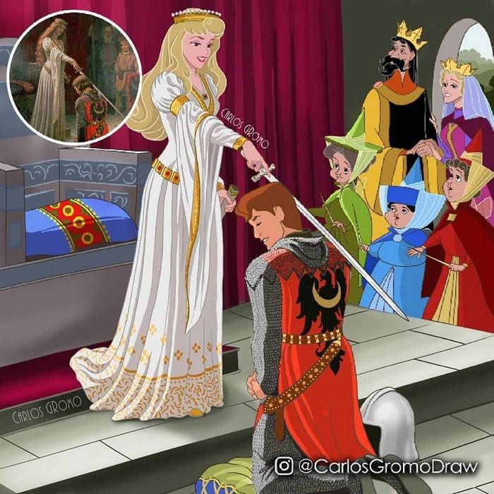 Artista reimagina 22 pinturas famosas com personagens da Disney 3