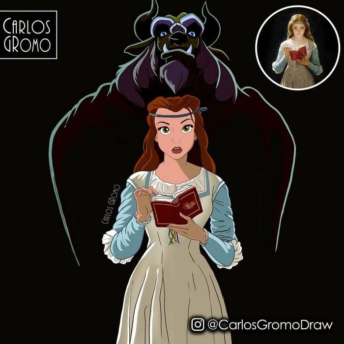 Artista reimagina 22 pinturas famosas com personagens da Disney 9