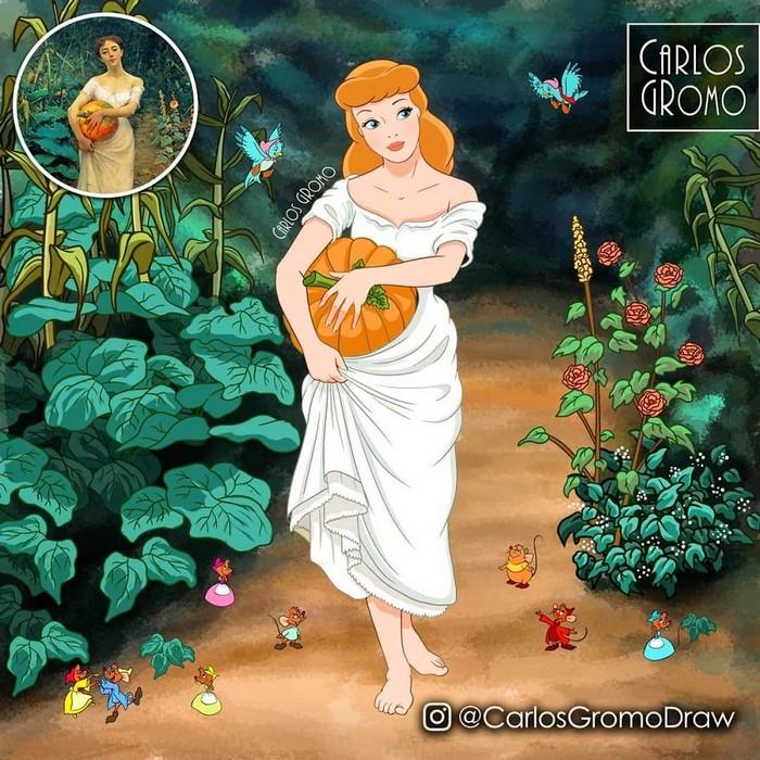Artista reimagina 22 pinturas famosas com personagens da Disney 10
