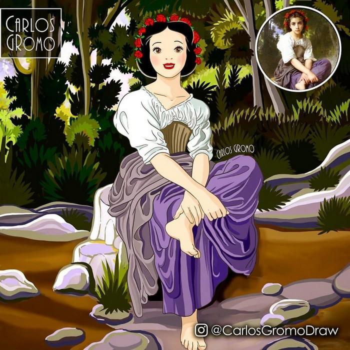 Artista reimagina 22 pinturas famosas com personagens da Disney 11