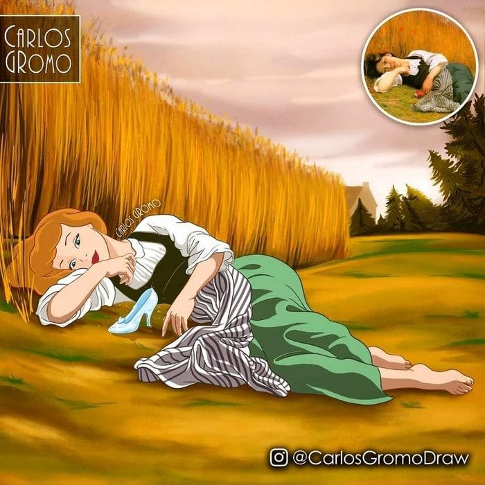 Artista reimagina 22 pinturas famosas com personagens da Disney 17