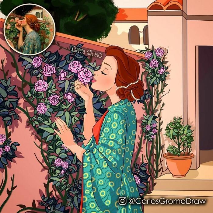Artista reimagina 22 pinturas famosas com personagens da Disney 21