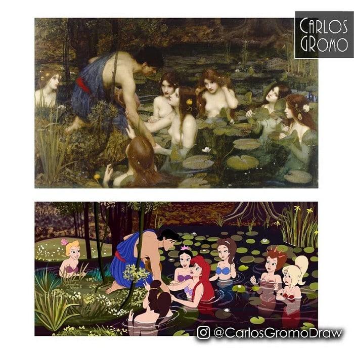 Artista reimagina 22 pinturas famosas com personagens da Disney 22