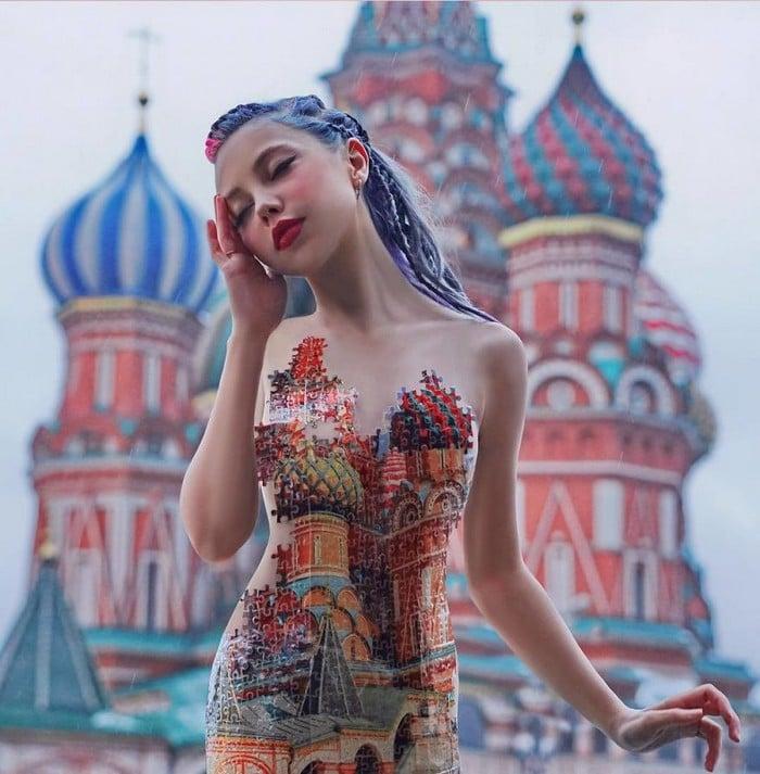 Esta artista russa compartilha suas fotos bizarras e se tornou uma sensação no Instagram (40 fotos) 24