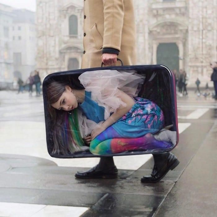 Esta artista russa compartilha suas fotos bizarras e se tornou uma sensação no Instagram (40 fotos) 32