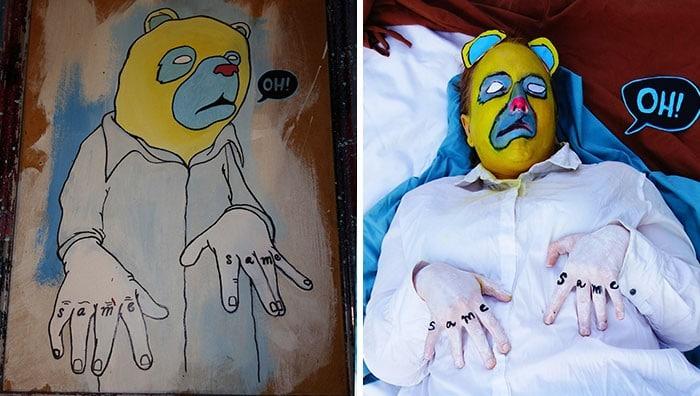 Grupo do Facebook recria obras de arte durante isolamento social (34 fotos) 3