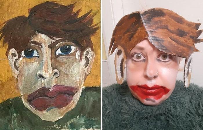 Grupo do Facebook recria obras de arte durante isolamento social (34 fotos) 9