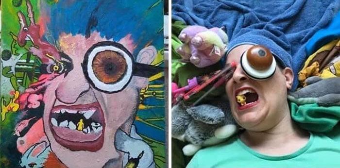 Grupo do Facebook recria obras de arte durante isolamento social (34 fotos) 17