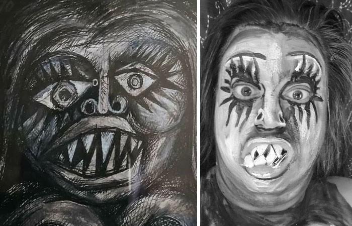 Grupo do Facebook recria obras de arte durante isolamento social (34 fotos) 19