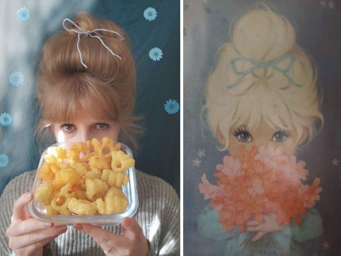 Grupo do Facebook recria obras de arte durante isolamento social (34 fotos) 23