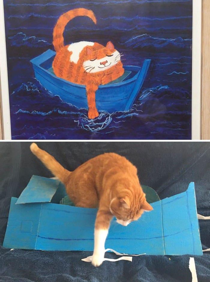 Grupo do Facebook recria obras de arte durante isolamento social (34 fotos) 24