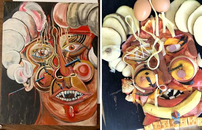 Grupo do Facebook recria obras de arte durante isolamento social (34 fotos) 36