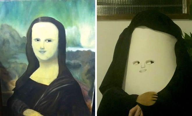 Grupo do Facebook recria obras de arte durante isolamento social (34 fotos) 2