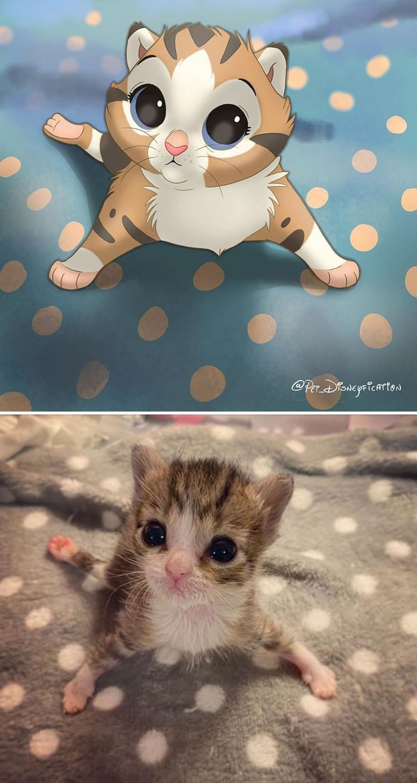 Ilustrador transforma fotos de animais de estimação em criações mágicas no estilo Disney (18 fotos) 2