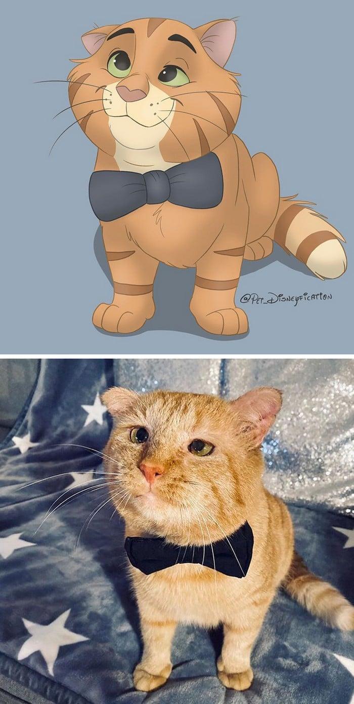 Ilustrador transforma fotos de animais de estimação em criações mágicas no estilo Disney (18 fotos) 9
