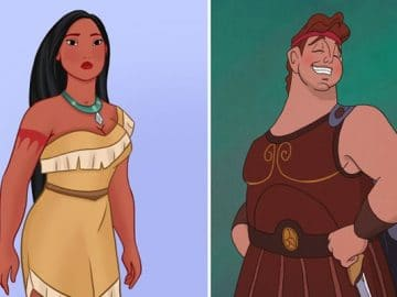 31 personagens do filmes da Disney se fossem gordo 13