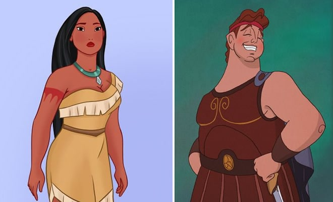 31 personagens do filmes da Disney se fossem gordo 1