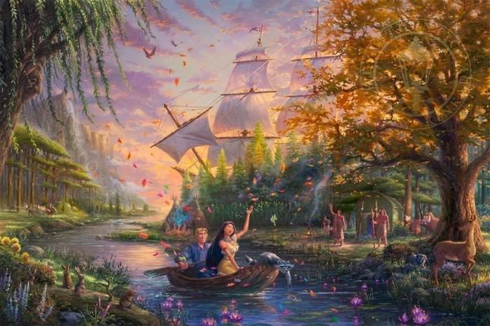 As pinturas deste artista sobre Disney parecem melhores do que os filmes (37 fotos) 34