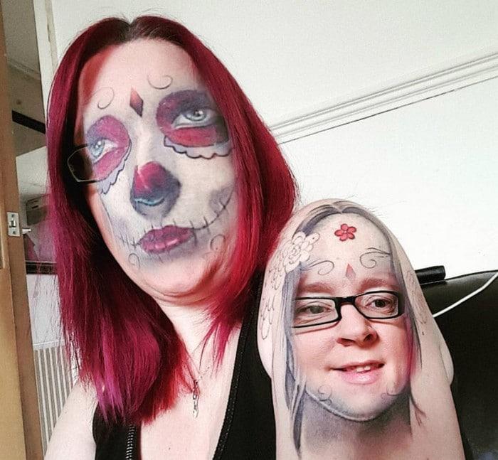 Quando você usa o aplicativo de troca de rosto em sua tatuagem (21 fotos) 4
