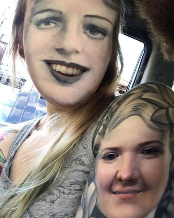 Quando você usa o aplicativo de troca de rosto em sua tatuagem (21 fotos) 11