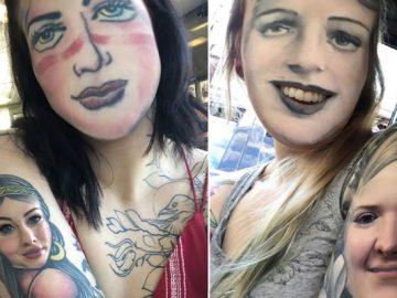 Quando você usa o aplicativo de troca de rosto em sua tatuagem (21 fotos) 37