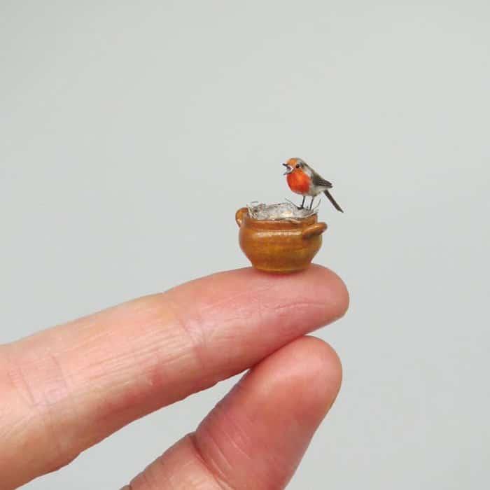 40 animais em miniatura criados pelo renomado artista Fanni Sandor 4