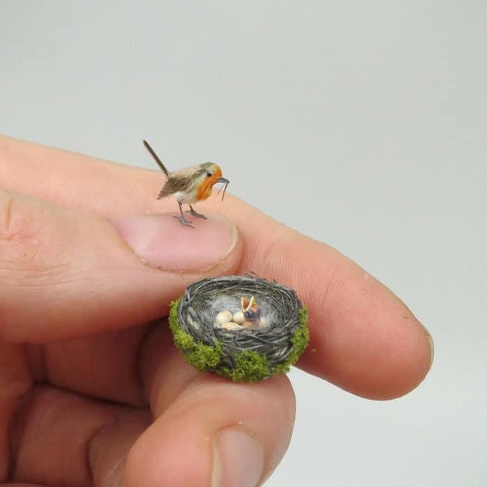 40 animais em miniatura criados pelo renomado artista Fanni Sandor 5