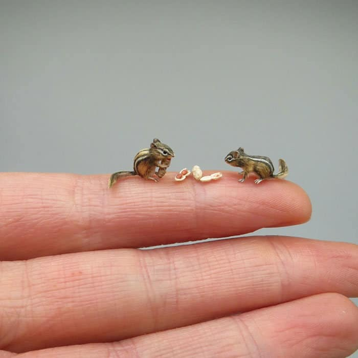 40 animais em miniatura criados pelo renomado artista Fanni Sandor 7