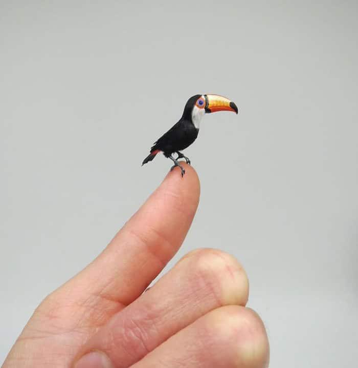 40 animais em miniatura criados pelo renomado artista Fanni Sandor 8