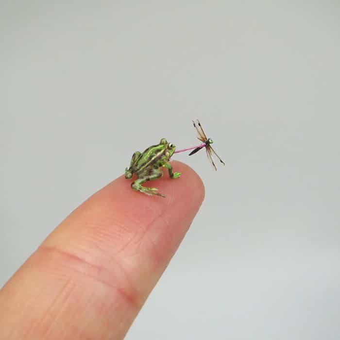 40 animais em miniatura criados pelo renomado artista Fanni Sandor 10