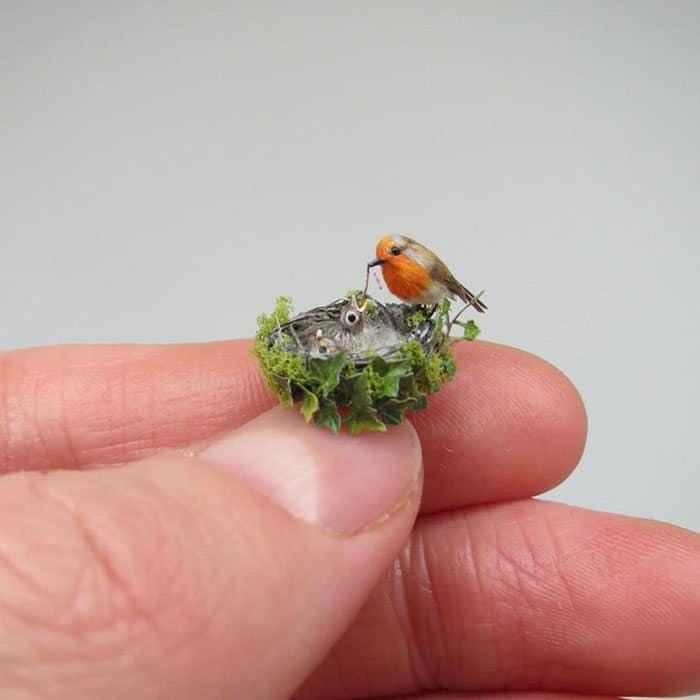 40 animais em miniatura criados pelo renomado artista Fanni Sandor 12