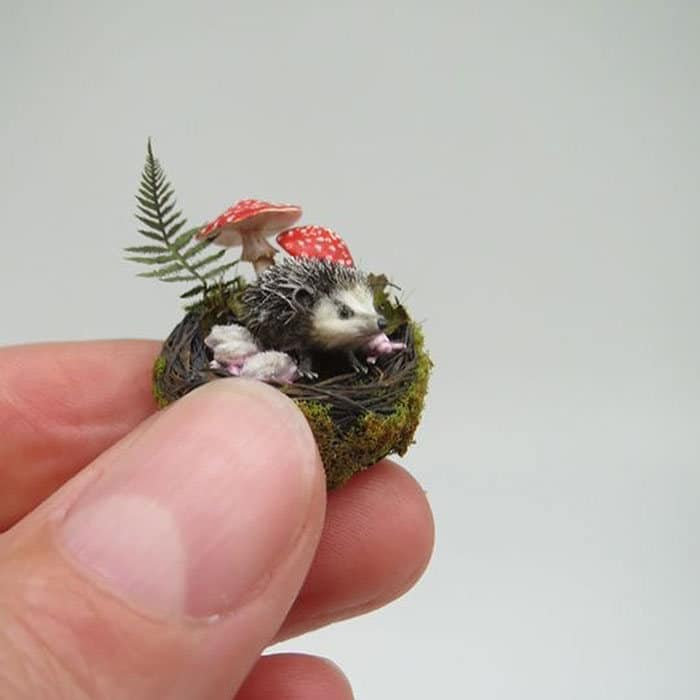 40 animais em miniatura criados pelo renomado artista Fanni Sandor 16