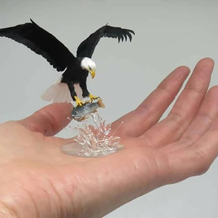 40 animais em miniatura criados pelo renomado artista Fanni Sandor 30