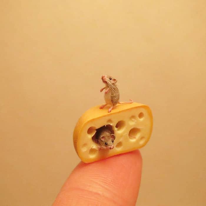 40 animais em miniatura criados pelo renomado artista Fanni Sandor 36
