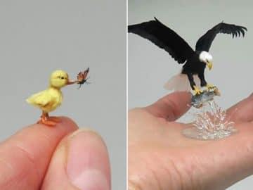 40 animais em miniatura criados pelo renomado artista Fanni Sandor 21