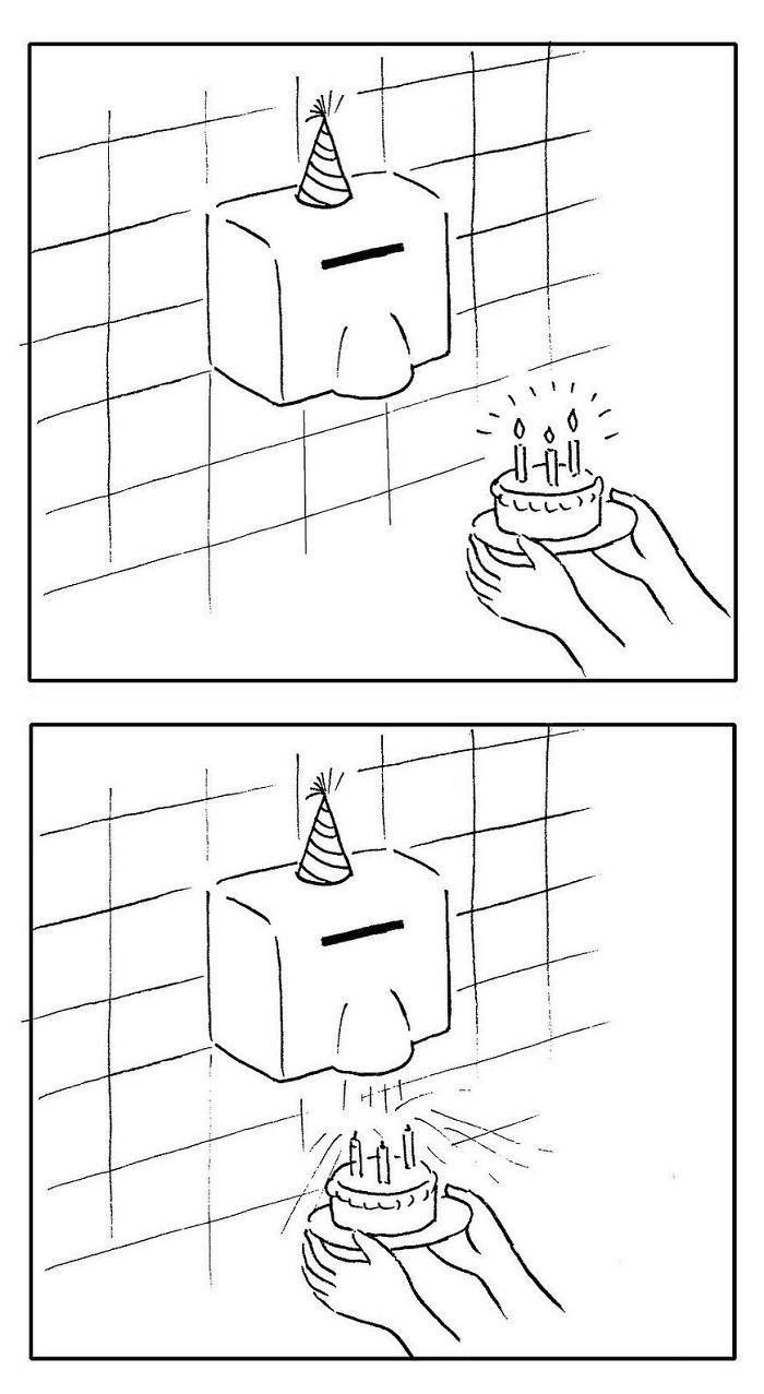 Artista chinês desenha quadrinhos engraçados com reviravoltas surpresa (35 fotos) 3