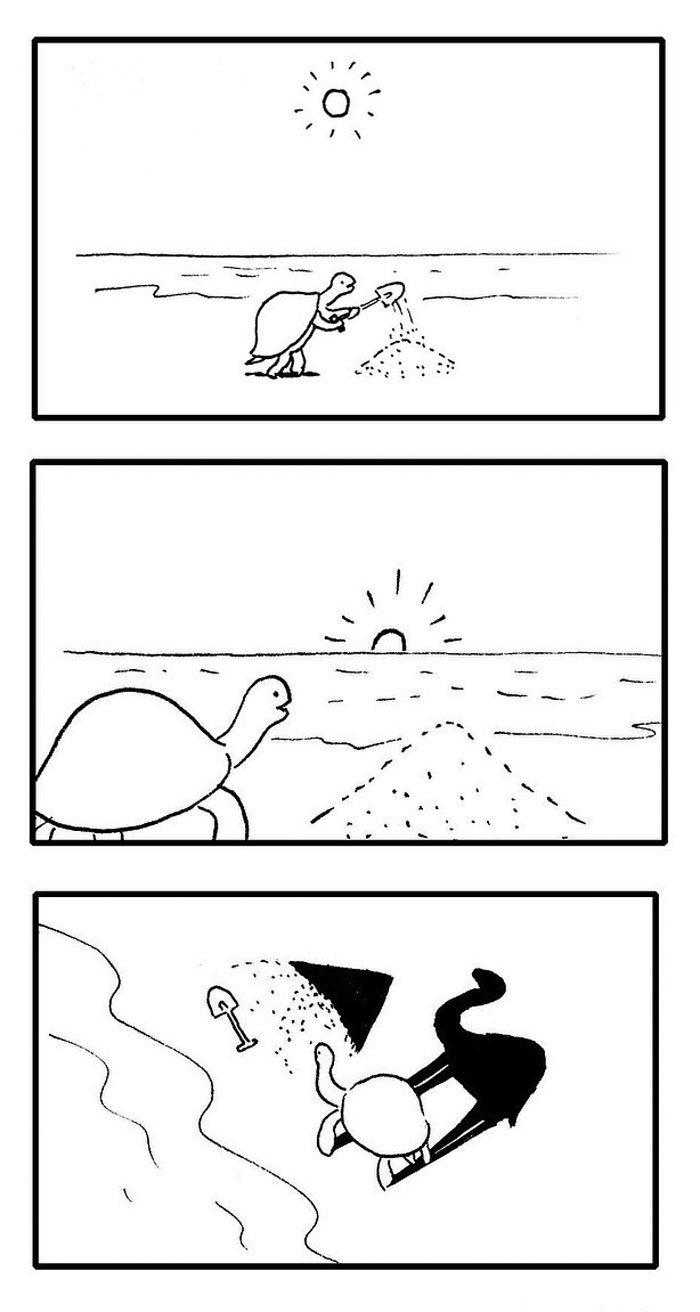 Artista chinês desenha quadrinhos engraçados com reviravoltas surpresa (35 fotos) 9