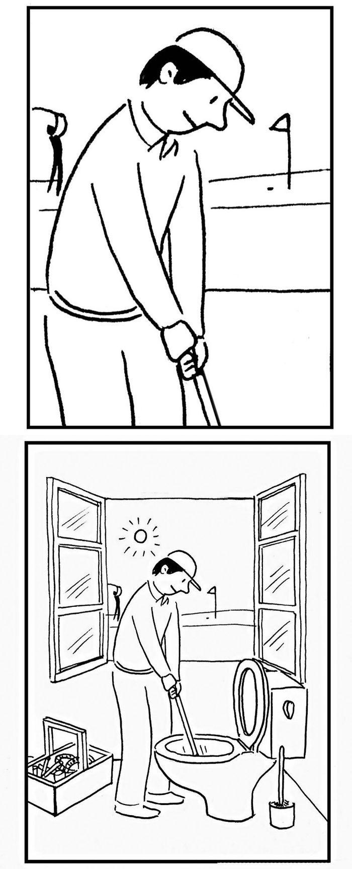 Artista chinês desenha quadrinhos engraçados com reviravoltas surpresa (35 fotos) 16
